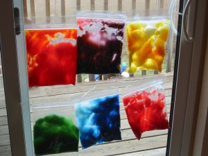 Color mixing in a bag